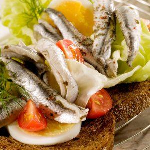 Sandwich Ansjovisfilet Met Sla
