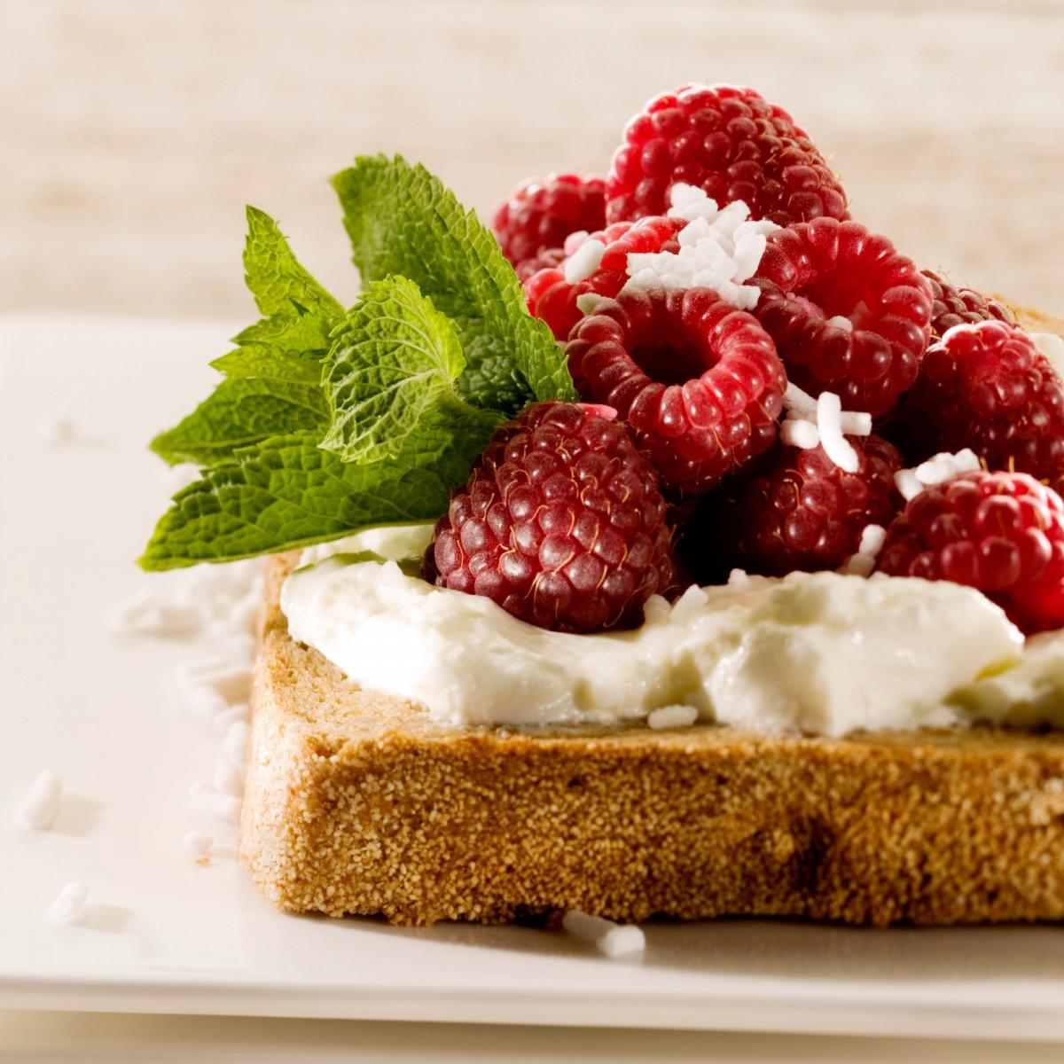 Sandwich Yoghurt-framboos Met Anijshagel