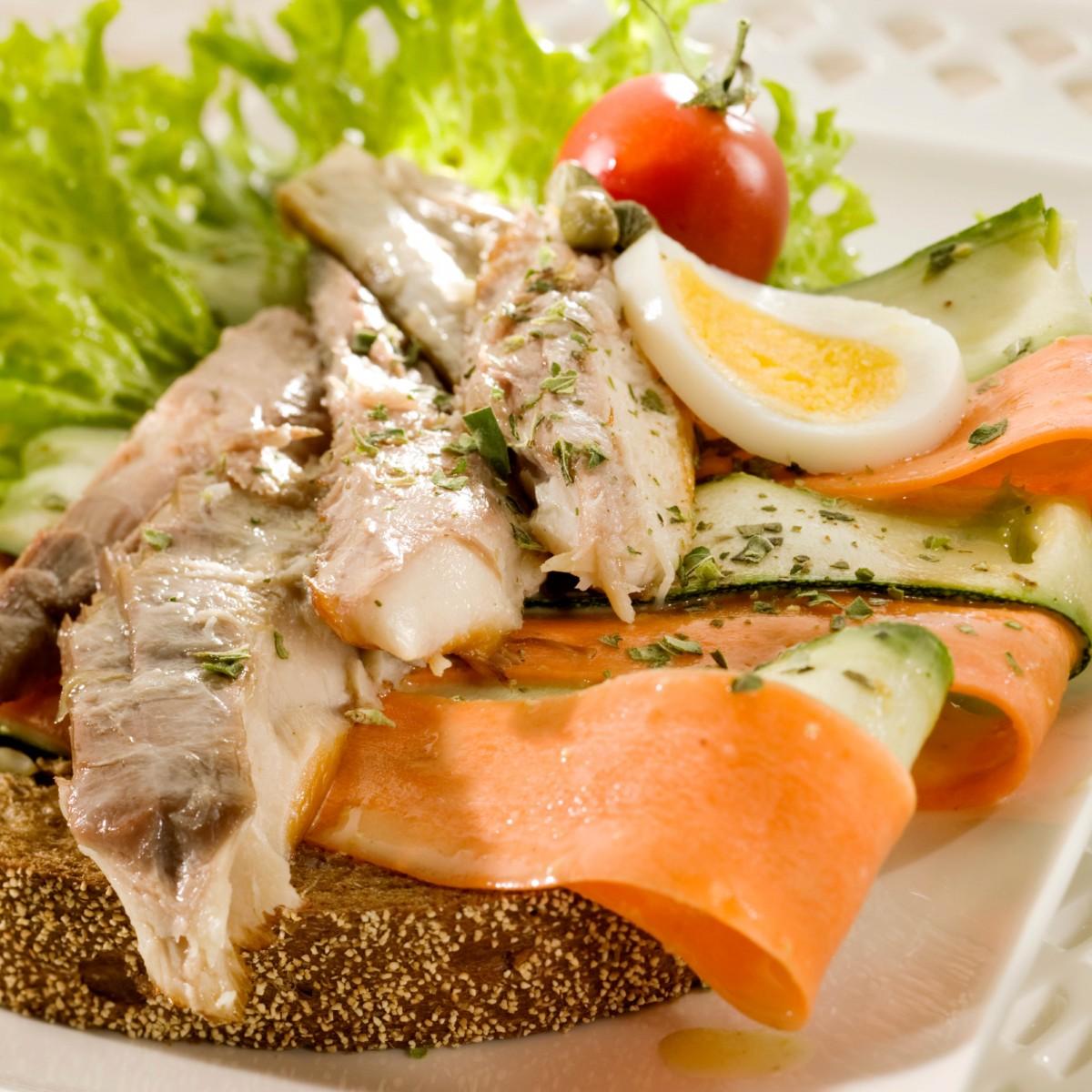 Sandwich Markeel, Wortel En Courgette