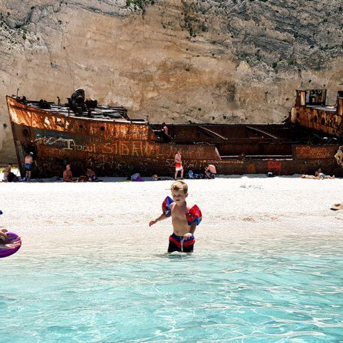 Frisbee @ Shipwreck Beach Zakynthos