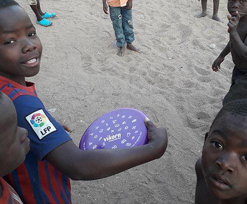 Frisbeeën @ Lake Malawi