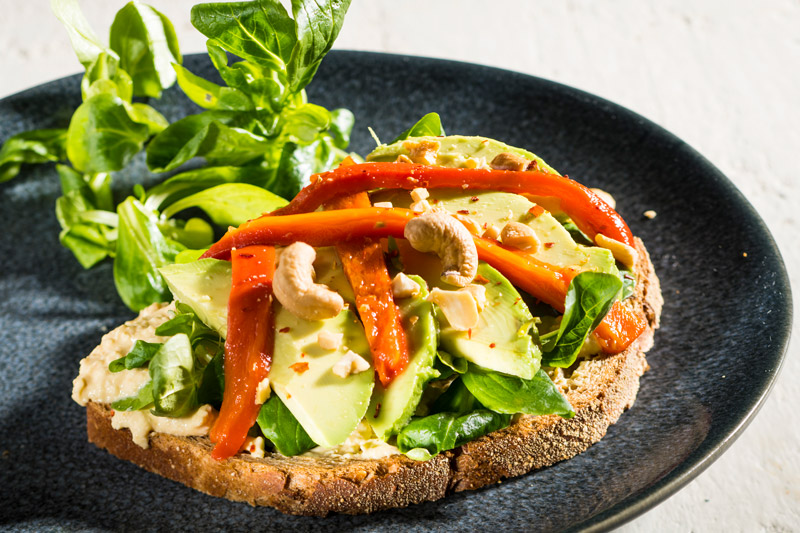 Sandwich Hummus | Avocado